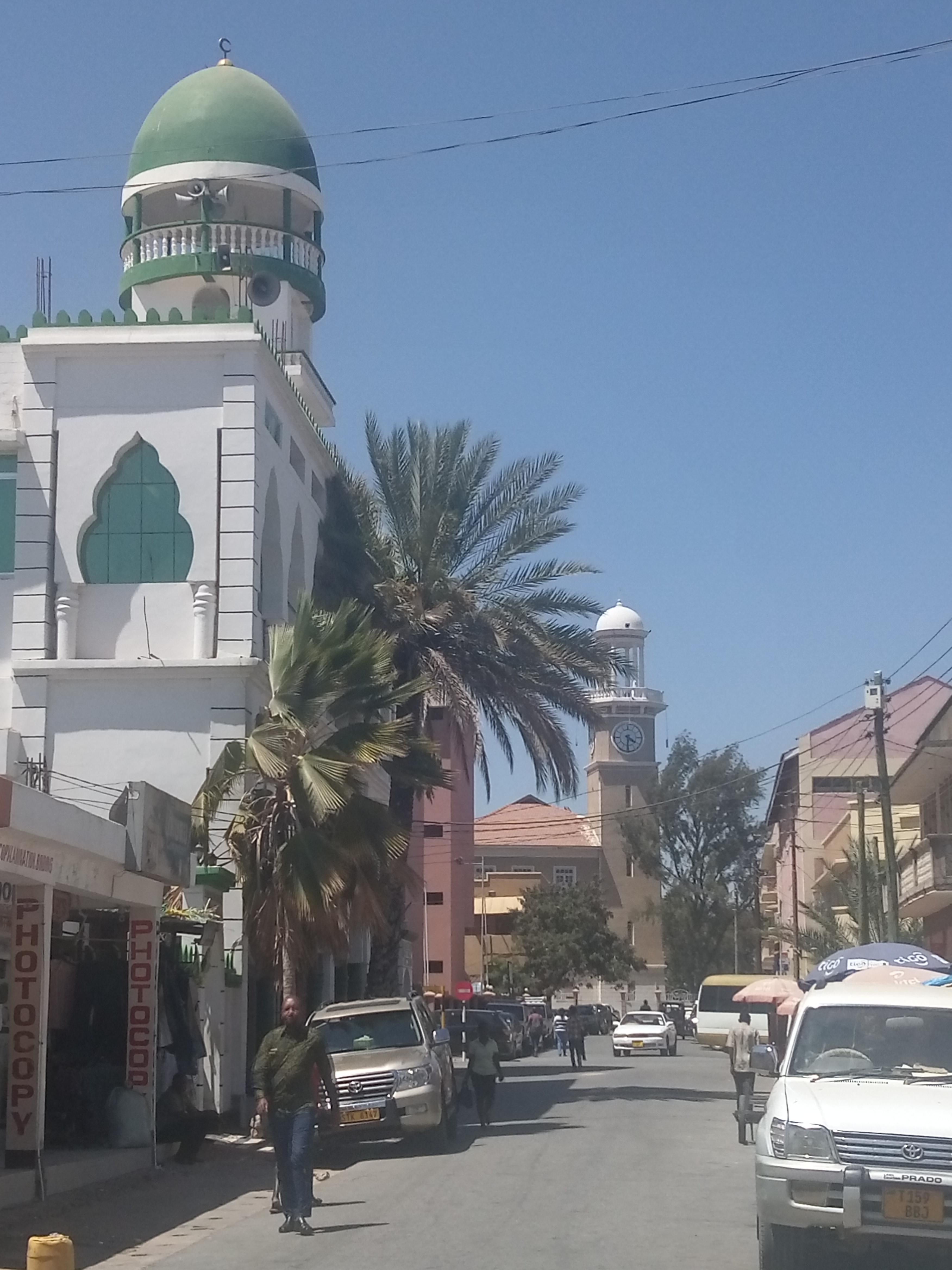Straße in Dodomas Innenstadt