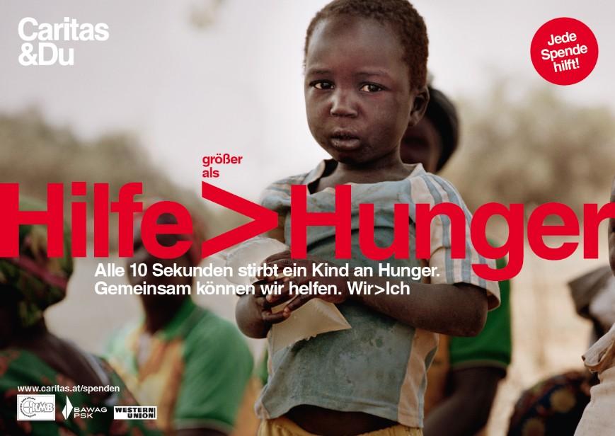 Spendenplakat von Caritas & Du