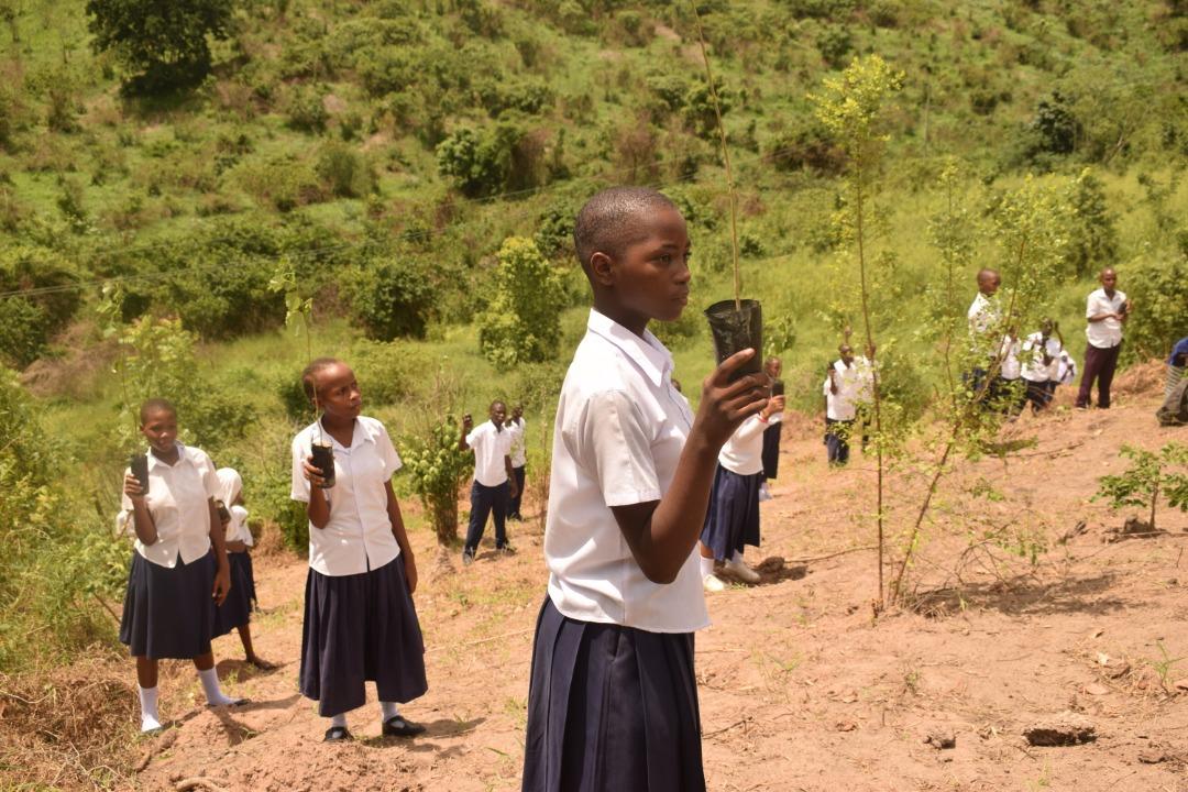 SchülerInnen eines Roots & Shoots